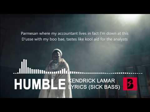 Kendrick Lamar - HUMBLE. Bass Boosted | Lyrics