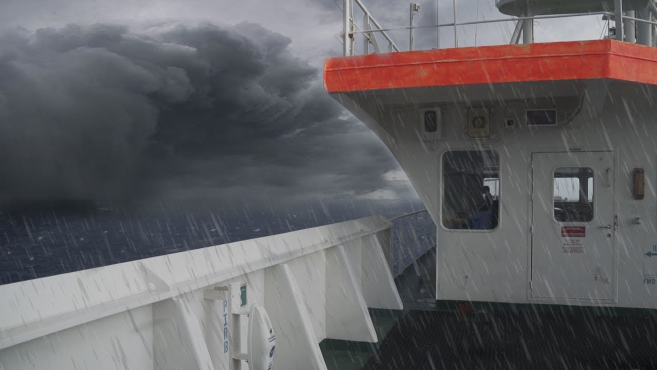 CARGO SHIP IN A BAD STORM (Passenger's Perspective) - Cargo / Container Ship Travel