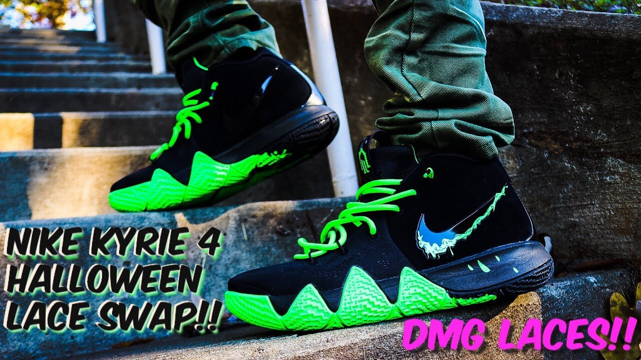 huge selection of 076f1 79087 NIKE KYRIE 4 HALLOWEEN LACE SWAP - LACES VIA DMG LACES!!