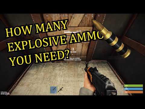 How many Explosive Ammo do you need? | Rust