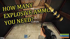 Raiding with Explosive Ammo | Rust