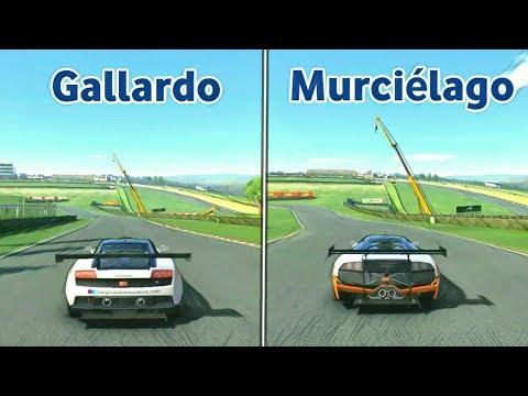 Lamborghini Gallardo LP560 GT3 Vs. Lamborghini Murciélago R-SV GT1 - Real Racing 3