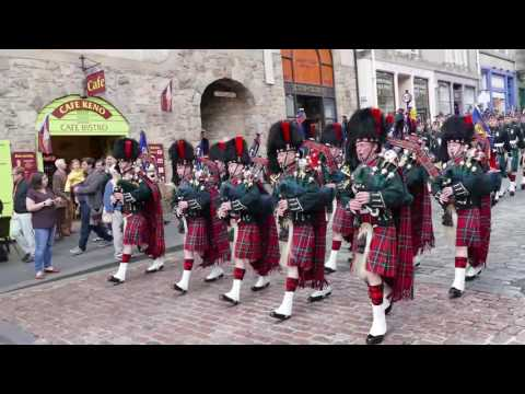The Black Watch parade The Royal Mile 2016