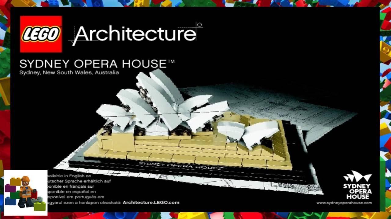 Lego Instructions Lego Architecture 21012 Sydney Opera House