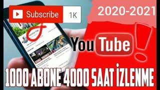 YouTube Abone Ve İzlenme Kasma (2020-2021)