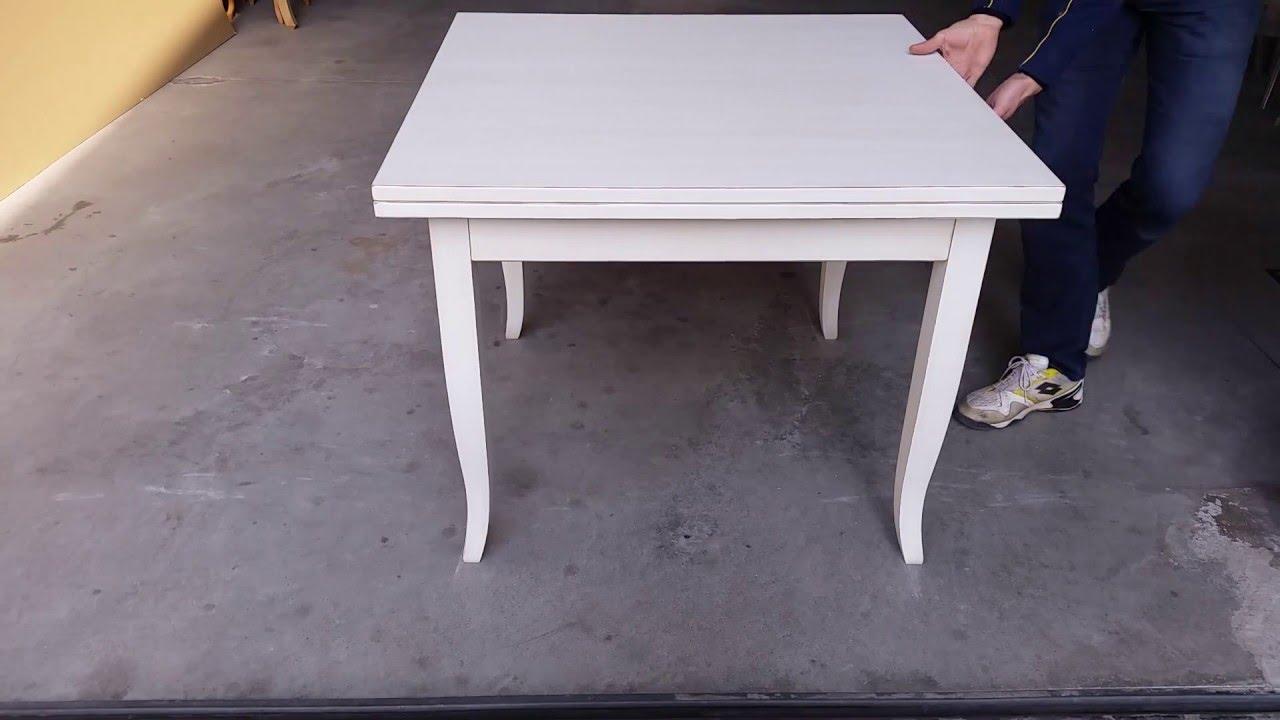 Tavolo Quadrato Apribile A Libro.Tavolo Quadrato Apribile A Libro 90 180x90 100 200x100 Youtube