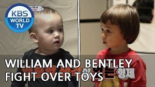 "William and Bentley fight over toys ""It's mine!!"" [The Return of Superman/2019.02.24]"