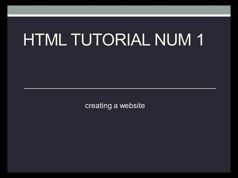 html tutorial number 1 thumbnail