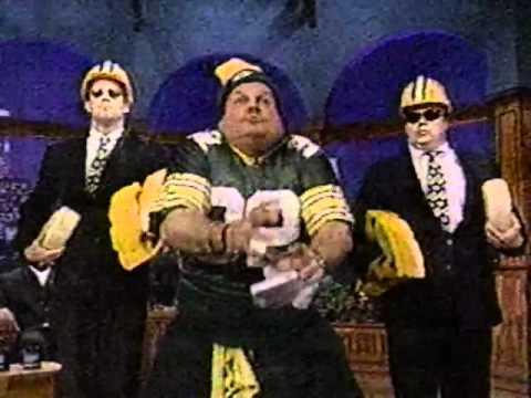 Chris Farley & Green Bay Packers Andre Rison, Edgar Bennett, Dwight Sean Jones on Jay Leno