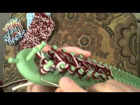 How To Loom Knit Triple Knit Stitch Youtube
