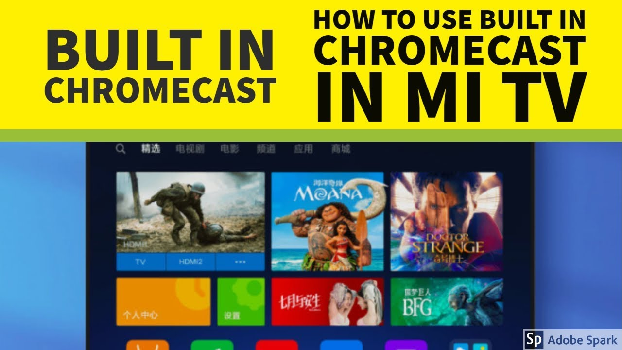 Mi TV Built in Chromecast | How to use Built in Chromecast in MI TV 4C Pro  OR Any - Hindi