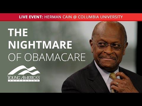 Herman Cain LIVE at Columbia University