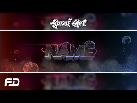 3D BANNER SPEED ART! (Red vs Blue) Cinema 4D + Photoshop!