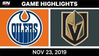 NHL Highlights   Oilers vs. Golden Knights – Nov. 23, 2019