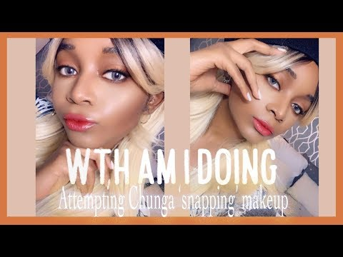 CHUNGA Snapping - Inspired Makeup Look | Black/Dark Skin Edition [My First Video] thumbnail