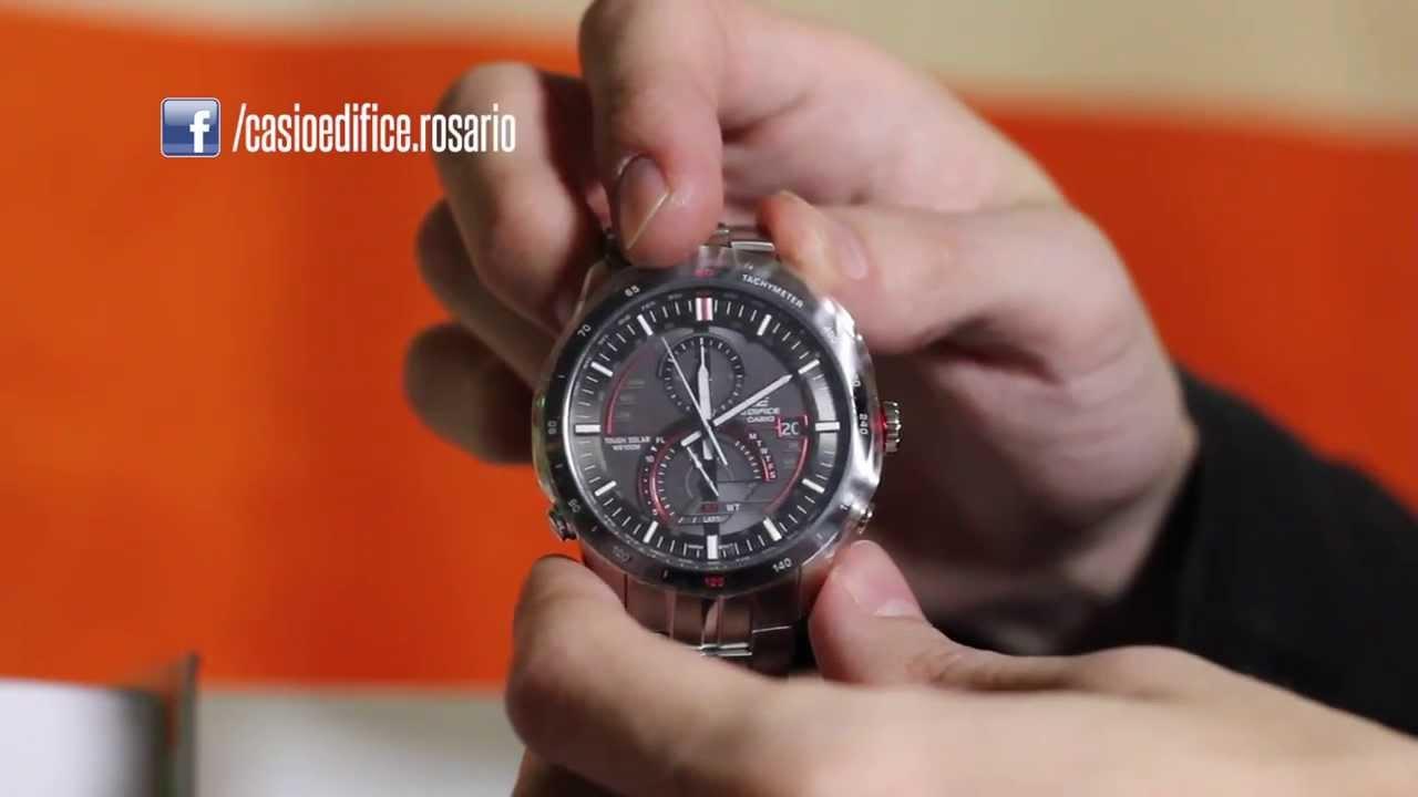 CASIO EDIFCE EQS-A500B-1A UNBOXING 1080P - YouTube