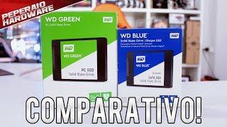 Testes de SSDs da Western Digital – WD Green vs WD Blue – Qual vale a pena?