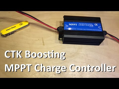 Cheap Boosting MPPT Solar Charge Controller - 12v Solar Shed