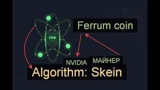 Майнинг на алгоритме Skein на примере Ferrum coin, майнер и батник. Видео для домохозяек.