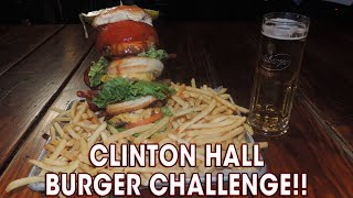 Clinton Hall Burger Challenge w/ Wayne Algenio!!