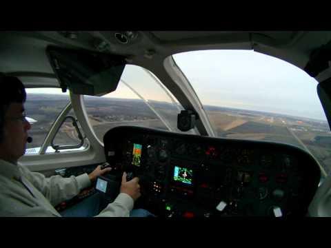 Landing at KFAR Cessna 340