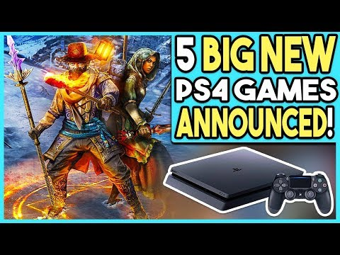 5 Big New PS4 Games Just Announced!
