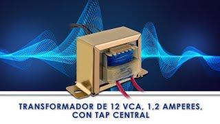 TRANSFORMADOR DE 12 VCA, 500 MA, CON TAP CENTRAL  / TR12-500