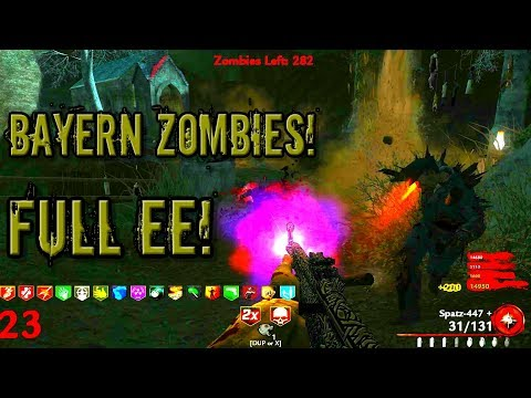Cod WaW Coop Custom Zombies Bayern Easter Egg!