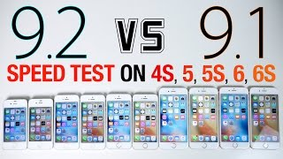 iOS 9.2 vs iOS 9.1 Speed Test on iPhone 6S, 6, 5S, 5 & 4S - iOS 9.2 Faster?