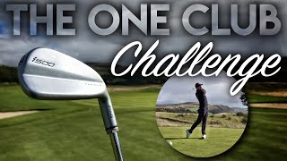 ONE CLUB CHALLENGE...it almost BROKE ME! Gleneagles PGA Course