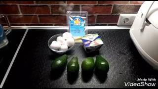 Запеченное авокадо  с яйцом и лёгким сыром по ПП (правильное питание)
