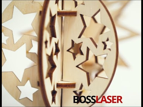 Free Laser Cut Birch Wood 3D Christmas Ornaments Files - Boss Laser