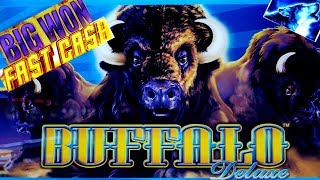 Buffalo Deluxe PROGRESSIVE BIG JACKPOT WON | Timber Wolf Deluxe  Bonus |Wicked Winnings 2 Slot Bonus