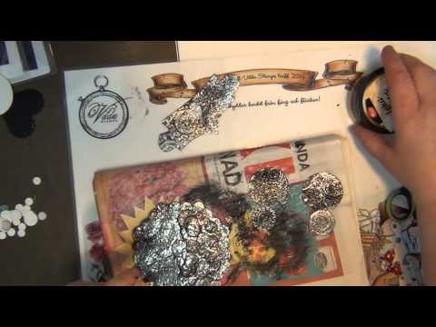 TUTORIAL   FAUX METAL OWL PAPER CRAFTS