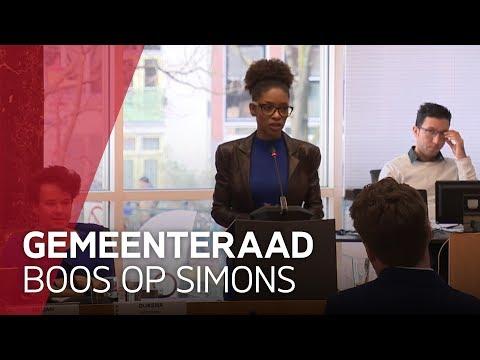 Raad neemt afstand van Sylvana Simons in verhit debat