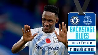 FAN GETS YERRY MINA'S SHIRT | BACKSTAGE BLUES: CHELSEA V EVERTON