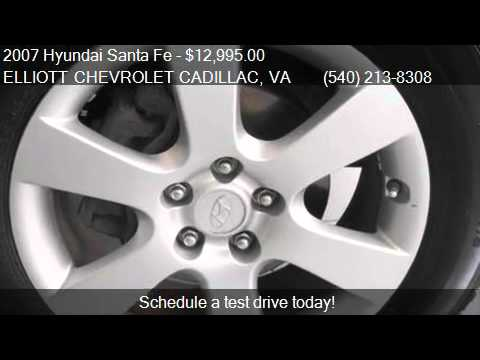 Exceptional 2007 Hyundai Santa Fe Limited For Sale In Staunton, VA 24401. Elliott  Chevrolet Cadillac