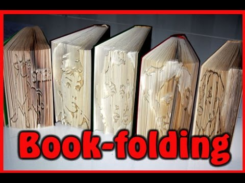 tutorial book folding b cher falten youtube. Black Bedroom Furniture Sets. Home Design Ideas
