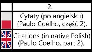 2. Cytaty (po angielsku) (Paulo Coelho, część 2) - Citations (in Polish) (Paulo Coelho, part 2).
