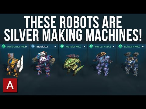 5 ROBOTS THAT CAN HELP YOU EARN CRAZY SILVER! / War Robots Build Guide