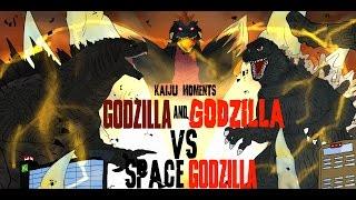 GODZILLA AND GODZILLA VS SPACEGODZILLA!!!!  KAIJU MOMENTS # 30
