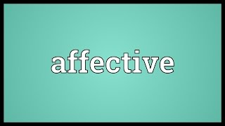 Affective Meaning