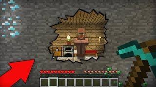 Я КОПАЛ ШАХТУ И НАШЁЛ СЕКРЕТНЫЙ ДОМ ЖИТЕЛЯ В МАЙНКРАФТ 100 ТРОЛЛИНГ ЛОВУШКА Minecraft ТАЙНА