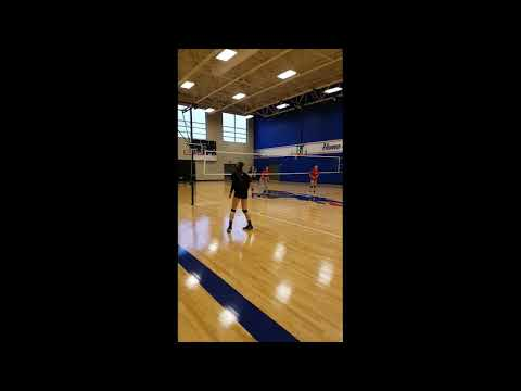 Nina Pevic left side hits and passing in practice