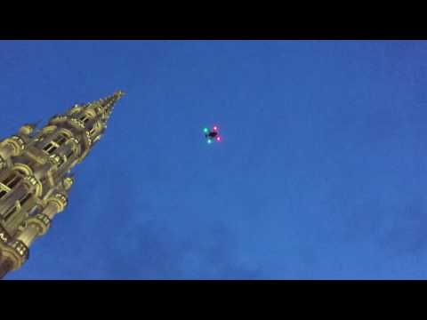 Drone fail (17/05/2017 22pm) Grand Place (Brussels)
