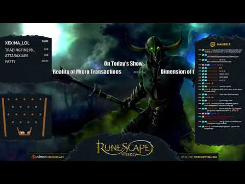 Runescape Weekly 11/3/2017 - Return of Weekly Shows!