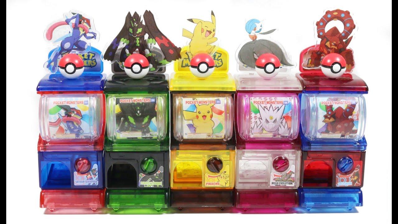 Squishy Pokemon Gashapon : PolymomoTrys Toytubing: Mini Pokemon XY&Z The Movie Toy Capsule Machine Gashapon Toy Capsule ...
