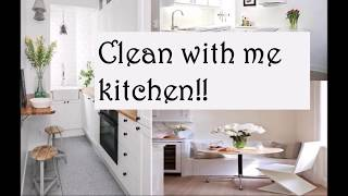 CLEANING MOTIVATION. CLEAN WITH ME KITCHEN. SMALL APARTMENT 2018