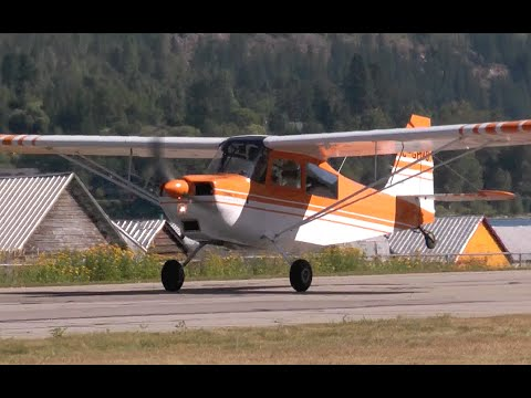 Citabria 7ECA Takeoff from Nelson, British Columbia.
