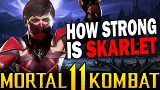 Mortal Kombat 11 - Skarlet Breakdown & Review! - How Strong is She??